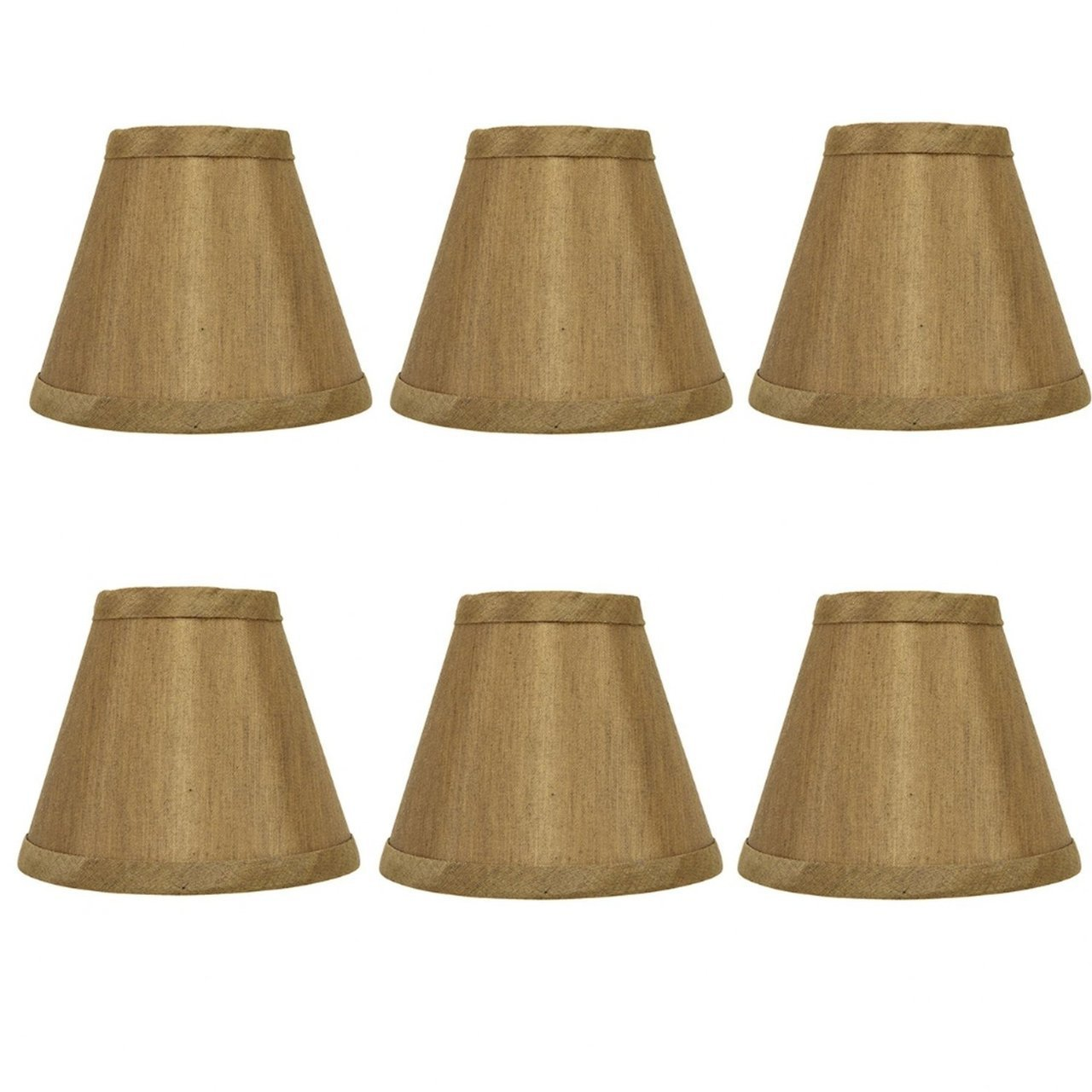 Upgradelights Bronze Silk 5 Inch Clip On Empire Chandelier Lampshades Set Of 6 2 5x5x4 25