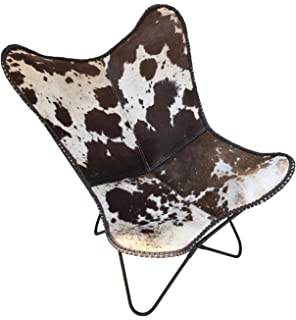Prime Amazon Com Butterfly Chair Lord In Black White Cowhide Squirreltailoven Fun Painted Chair Ideas Images Squirreltailovenorg