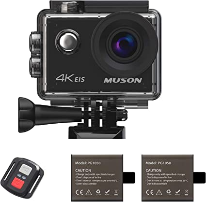 Muson Action Camera 4K 16MP Underwater Cam Waterproof 30M