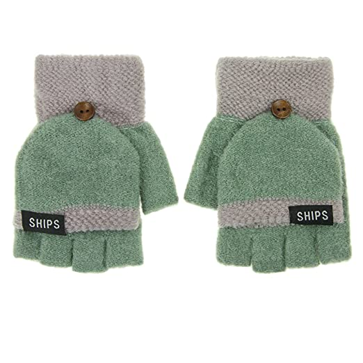 Women Cold Weather Gloves Lady Girls Winter Wool Knitted