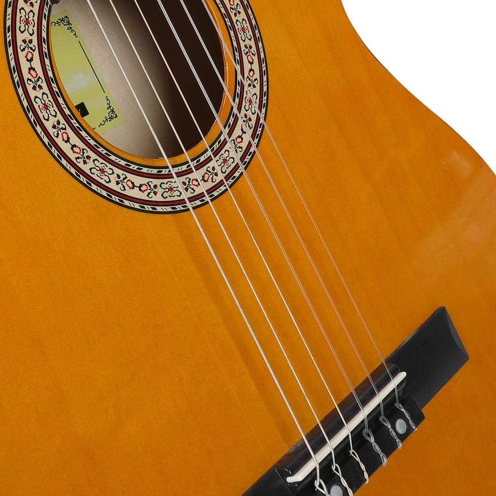 Bnineteenteam Guitarra clásica de Tilo, Guitarra Naranja con ...
