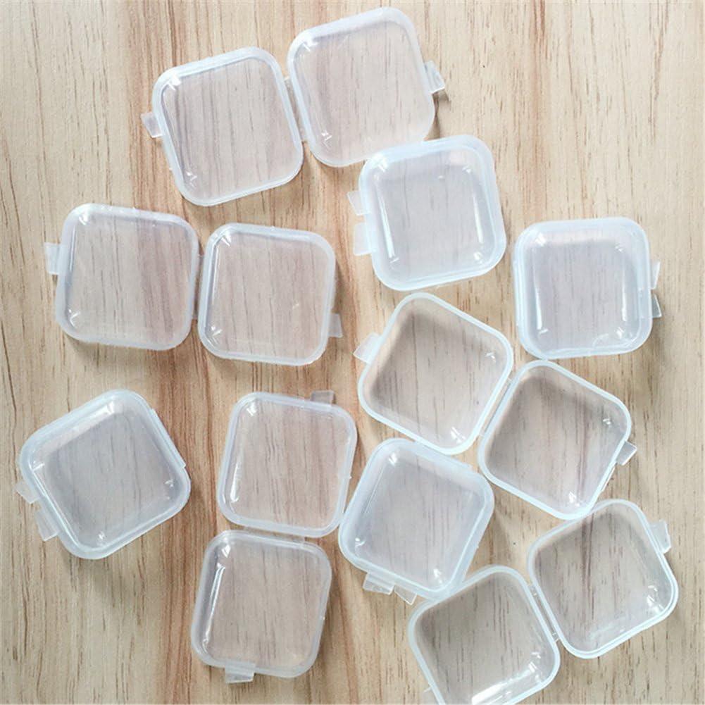 10x milopon Tapones caja protectores para oídos Case Mini caja de plástico transparente para tapones de Medicamentos pescado ganchos Kopfhörer 3.5* 3.5cm