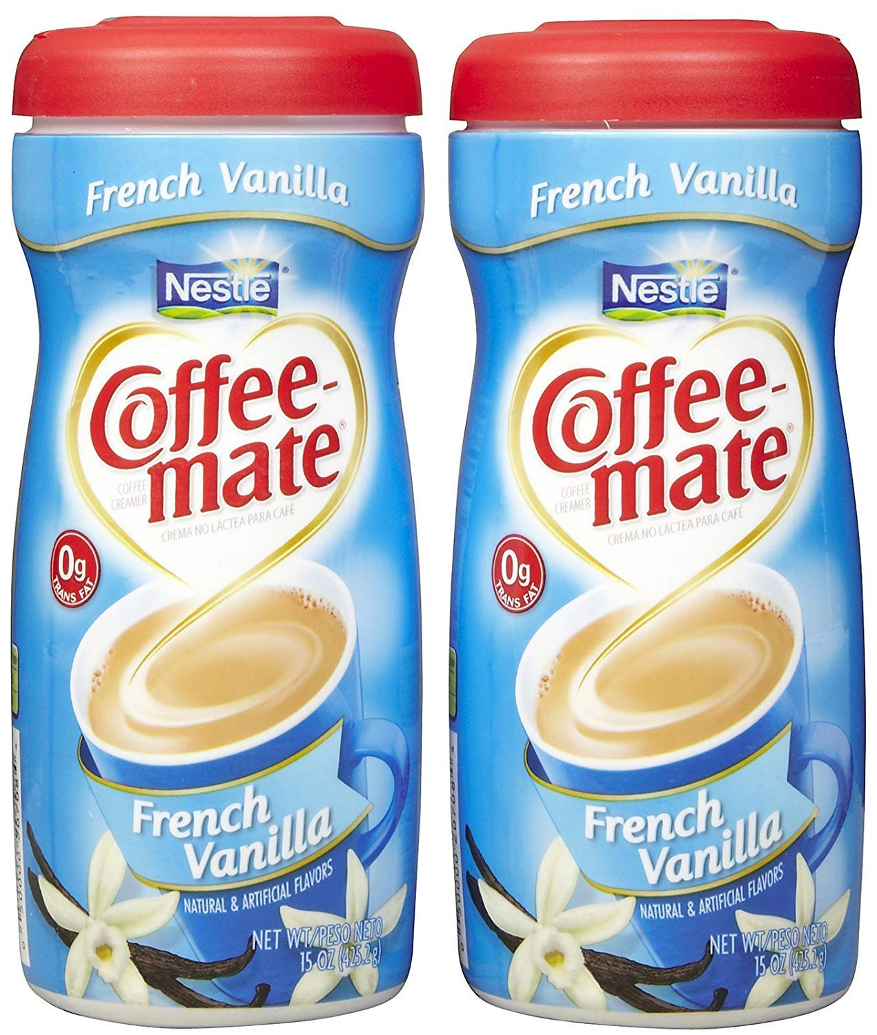 Coffee-Mate Powdered Coffee Creamer - French Vanilla - 15 oz - 2 Ct (4 Pack(2 Count))