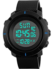 Kids Digital Watches for Boys - 5 ATM Waterproof Sports Watch with Alarm Chronograph Countdown, Childrens Outdoor Electronic Wrist Watch with LED Backlight for Teenagers