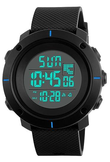 7fc594ae669a Niños Digital Relojes para niños - 5 ATM impermeable de los deportes reloj  con alarma Cronógrafo