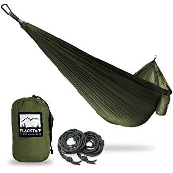 single  u0026 double camping hammocks   includes 2 support ropes and carabiners   portable lightweight parachute amazon    single  u0026 double camping hammocks   includes 2 support      rh   amazon
