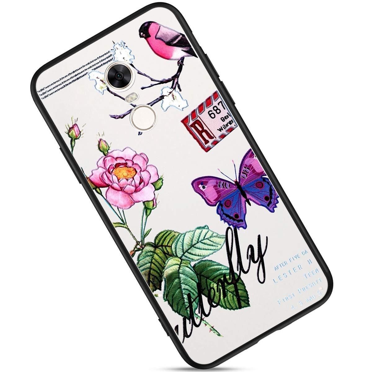 Felfy Kompatibel mit Redmi Note 4X H/ülle Silikon Handyh/ülle Ultra D/ünn Gel TPU /& PC Hybrid Schlanke mit Elegant Muster Anti-Scratch Kratzfest Handy H/ülle Tasche Bumper Case Backcover