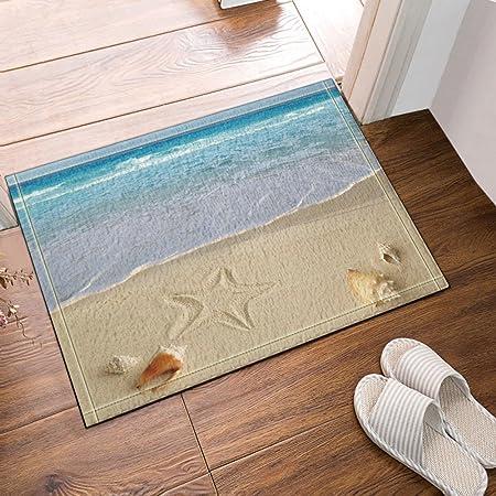 tropical seaside starfish on the beach bath rugs non slip doormat rh amazon co uk