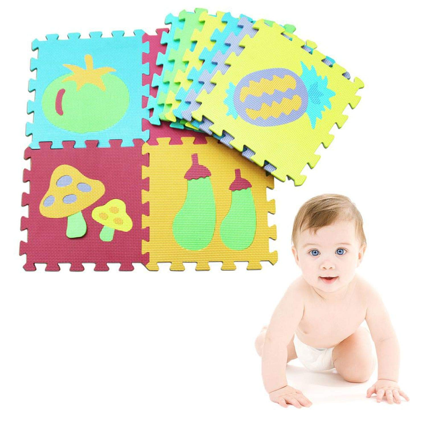 10pcs Safty Foam Numbers Letters Play Mat Foam Puzzle Floor Kid Crawling Carpet