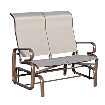 Outsunny Double Seat Glider Garden Bench Rocking Chair Porch
