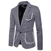 Pingtr Men's One Button Slim Fit Suit Jackets, Mens Classic London Regular Fit Jacket Business Blazer Coat Office Smart Suits Formal Dinner Suits