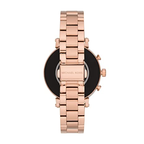 3fd472c893d5 Amazon.com  Michael Kors Access Women s Sofie Heart Rate  Touch-Screen  Smartwatch with Stainless-Steel Strap
