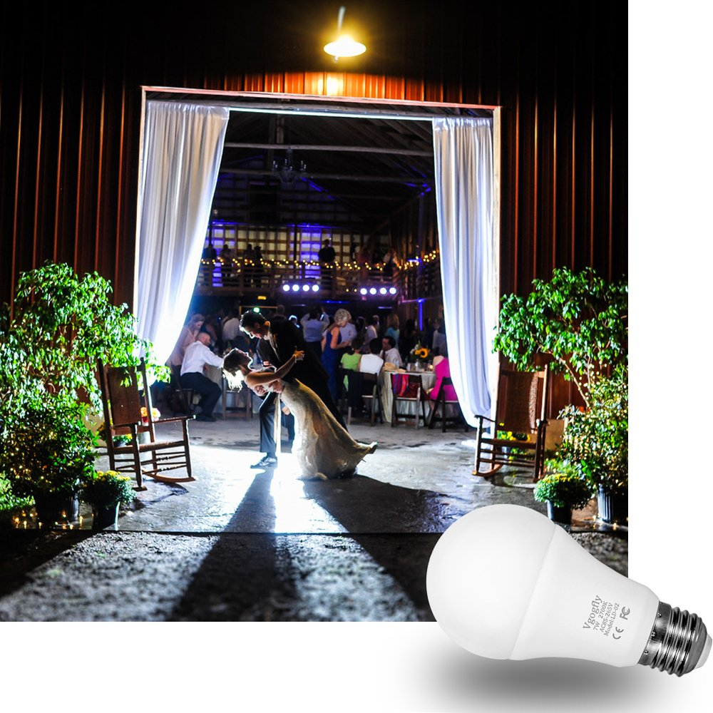 Dusk to Dawn Light Bulb Sensor Smart LED Outdoor Lighting Bulbs Lamp 7W E26/E27 Automatic On/Off, Indoor/Outdoor Yard Porch Patio Garden (Warm White, 3 Pack) by Vgogfly (Image #8)