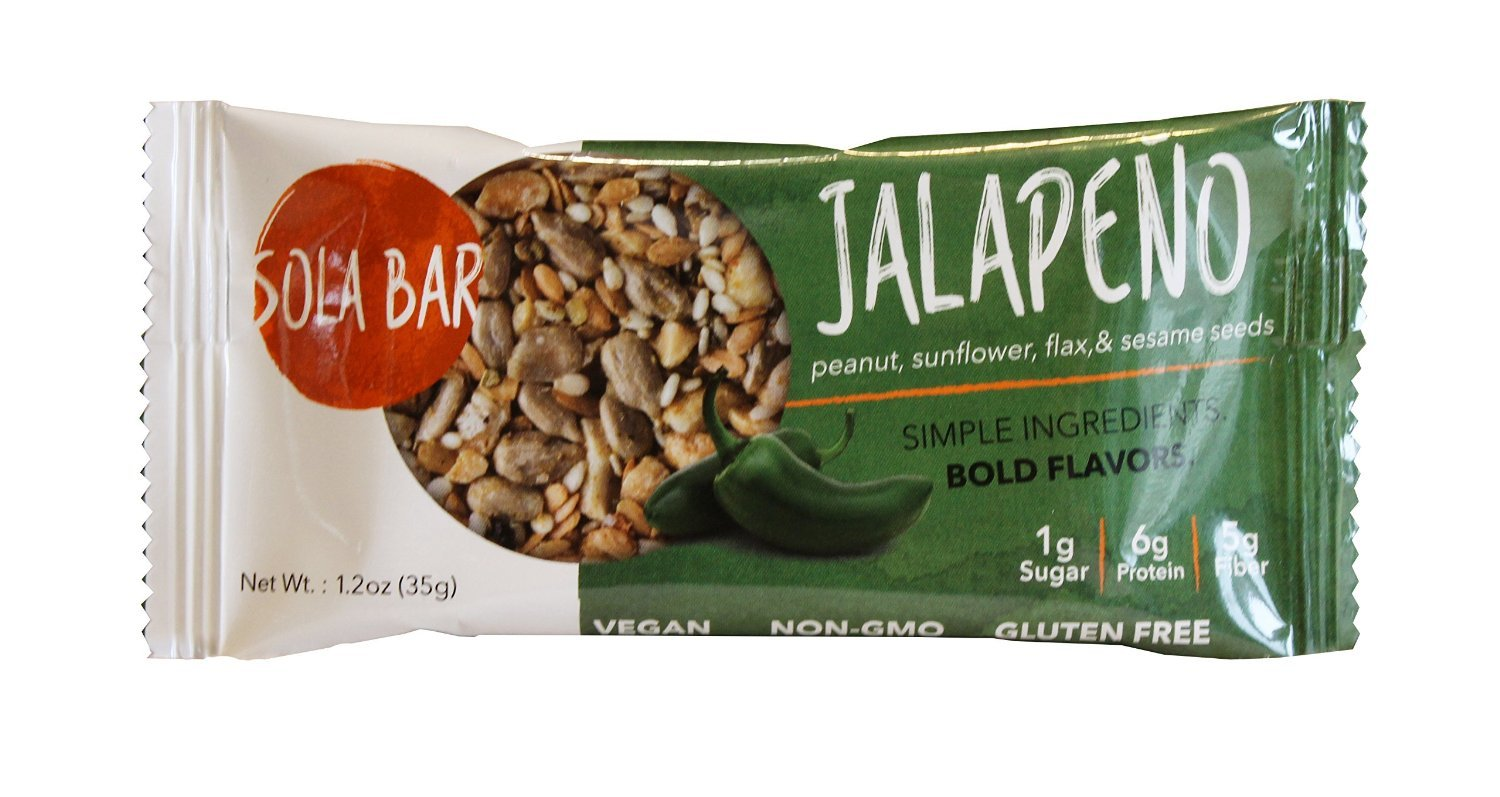 SOLA BAR Savory Wholesome Meal Bar, Jalapeno, 1.2 oz, 1 Count (Single Bar)