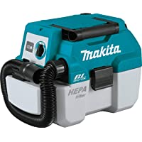 Makita XCV11Z 18V LXT Lithium-Ion Brushless Cordless 2 Gallon HEPA Filter Portable Wet/Dry Dust Extractor/Vacuum, Tool…