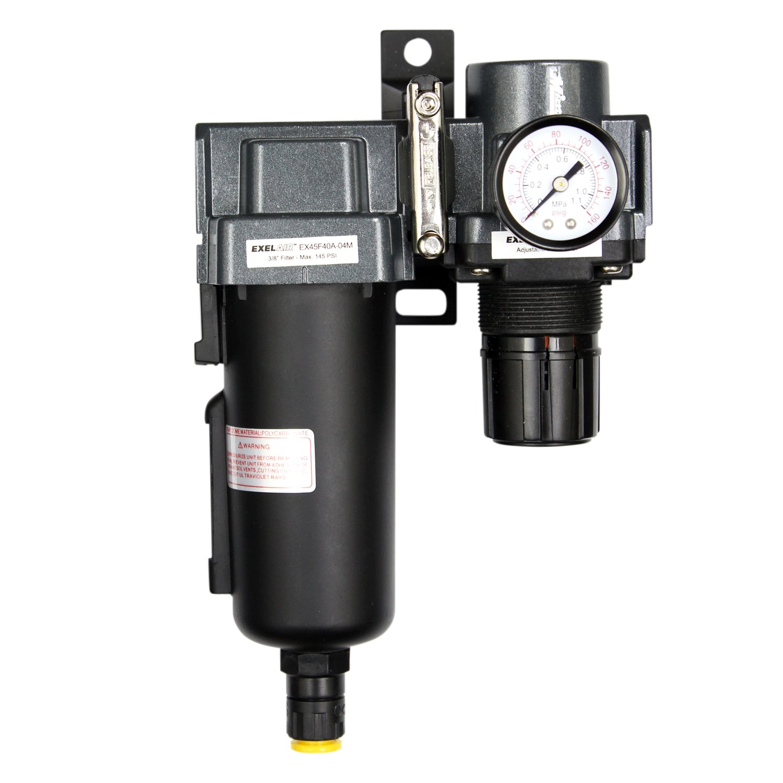 EXELAIR by Milton FRL  Air Filter & Regulator - 1/2'' NPT - Metal Bowl, Automatic Float (EX45FR40A-04M) by Milton Industries