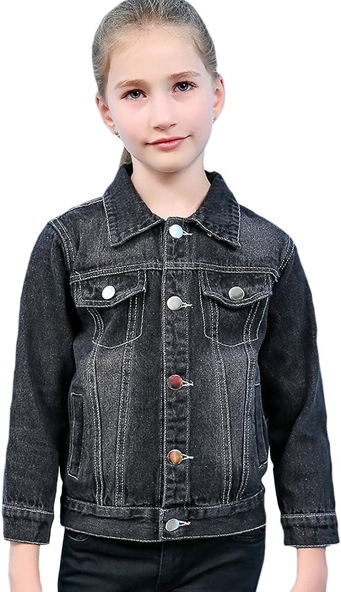 Tortor 1Bacha Kid Girls Stitch Long Sleeve Denim Jacket