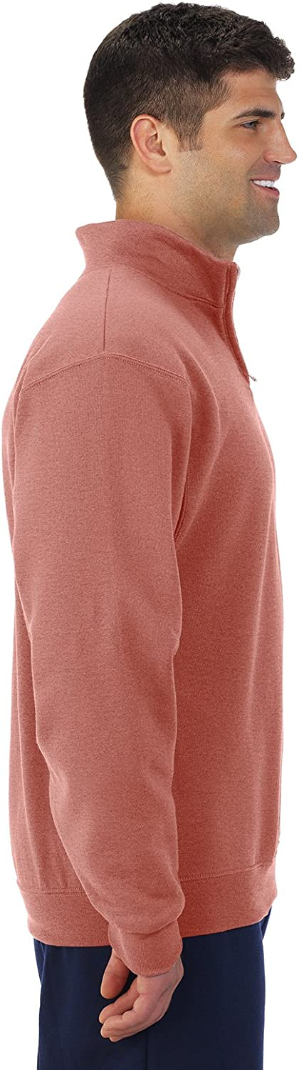 Jerzees NuBlend 1//4-Zip Cadet Collar Sweatshirt