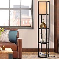 Artiss Floor lamp Shelf Vintage Light Stand Reading Home Wood 160cm Tall Decoration Living Room Office Storage Display…