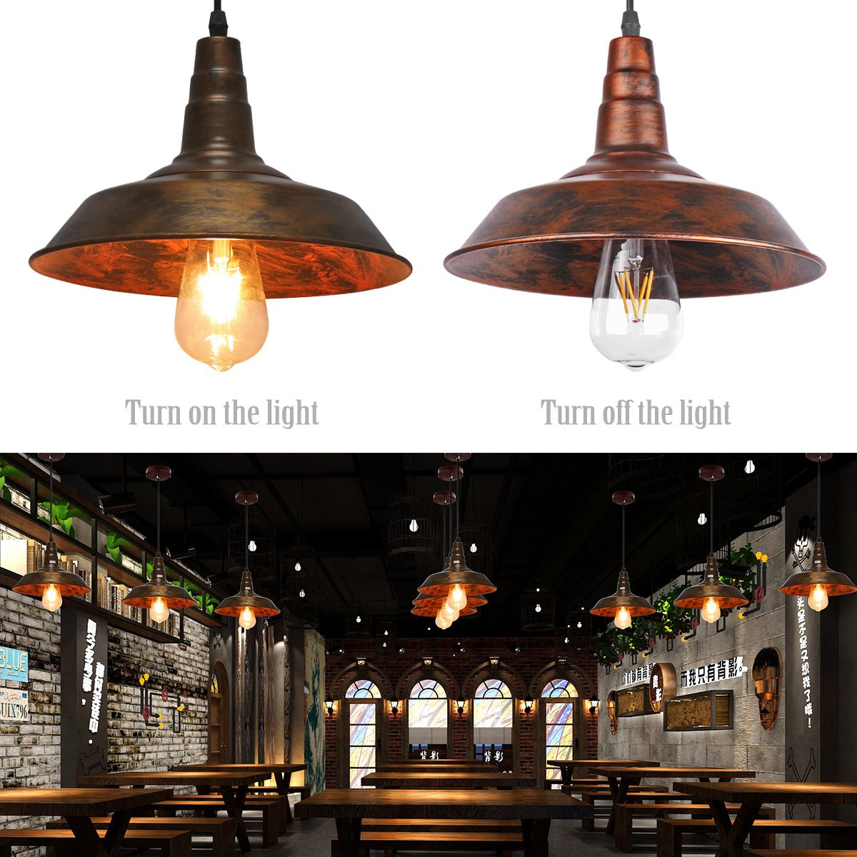 Sunsbell industrial retro vintage loft wall coffee bar lighting sunsbell industrial retro vintage loft wall coffee bar lighting fixtrure sconce pendant ceiling lamp fixtures light shades for e27 edison bulbsbrown aloadofball Gallery