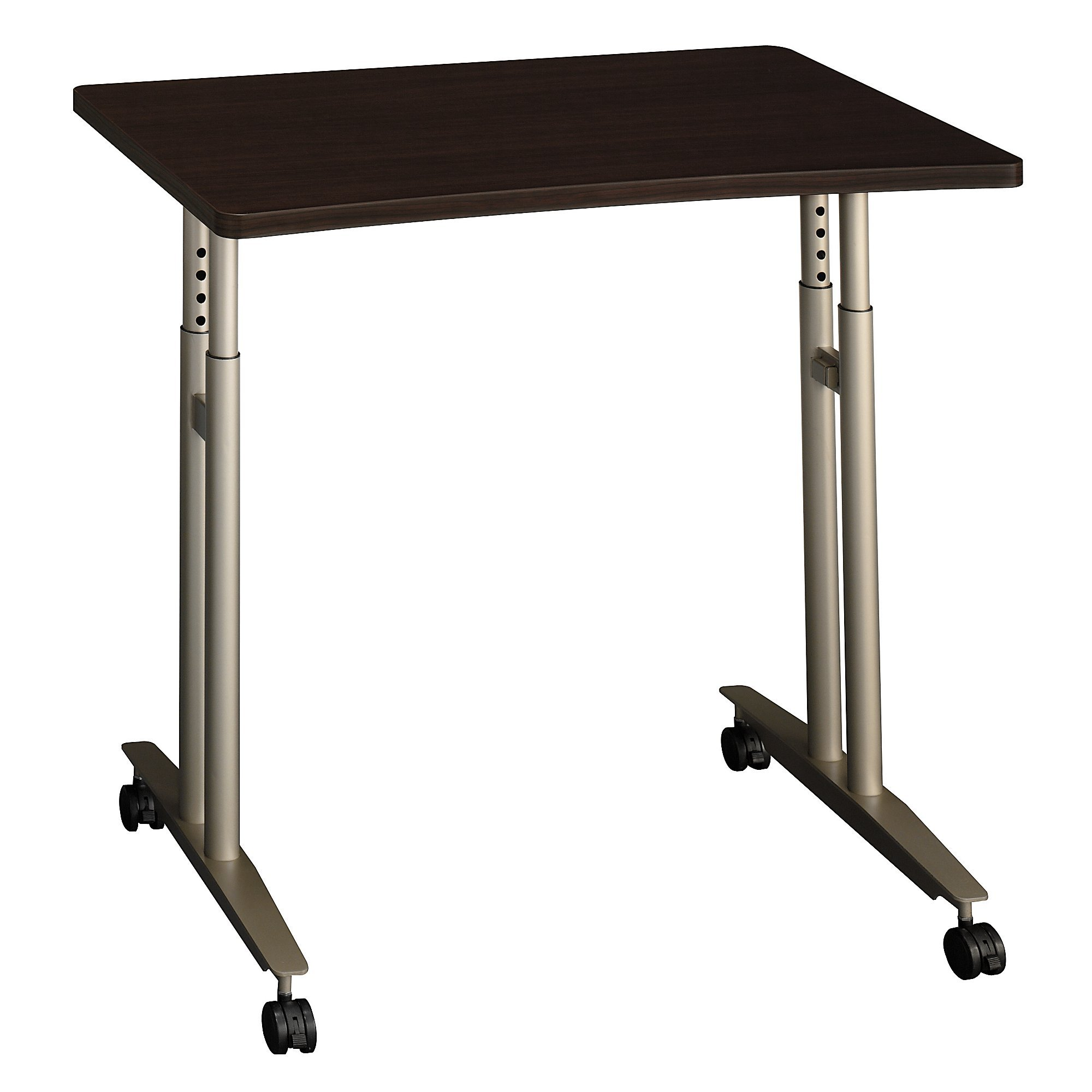 Bush Business Furniture WC12982 Series C 36W Adjustable Height Mobile Table, Mocha Cherry