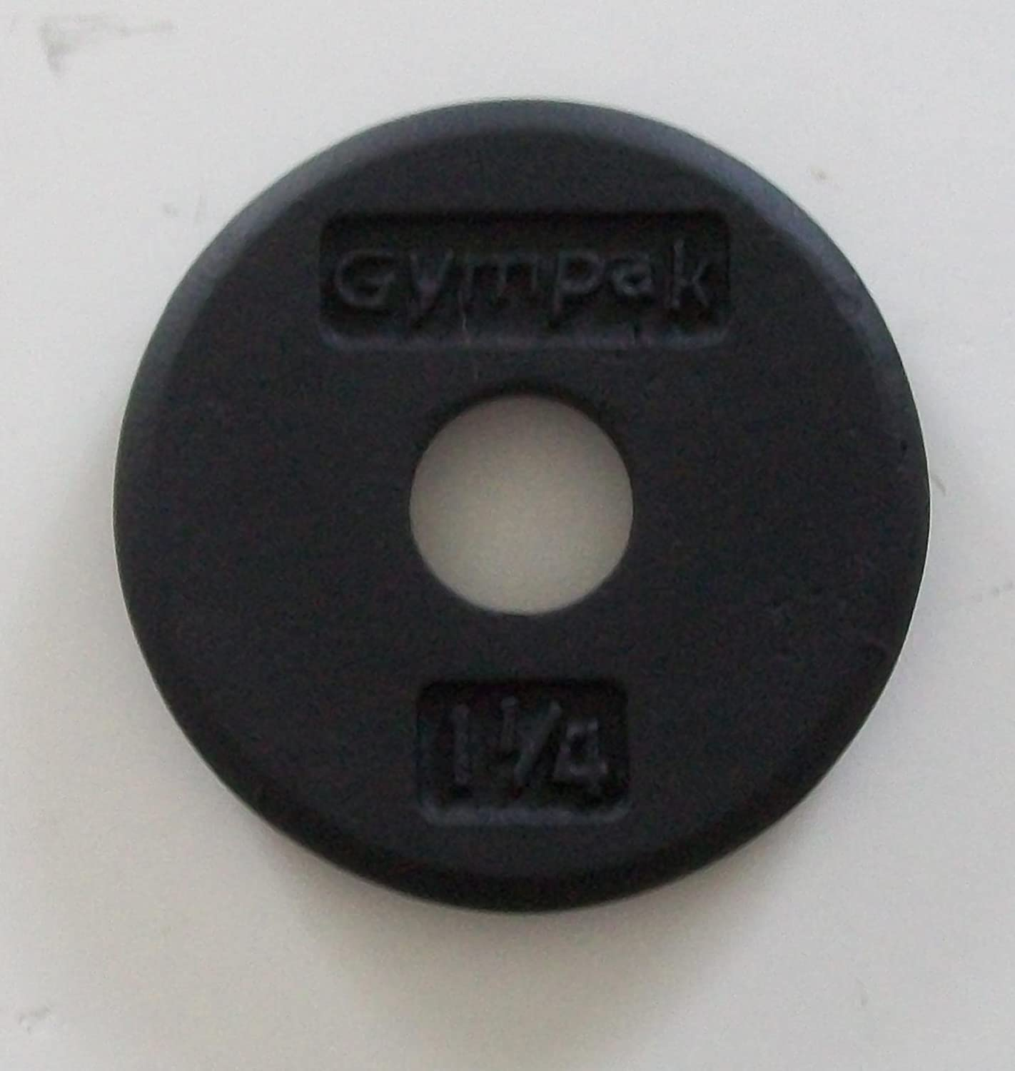 1 1 4 lb. Black or Grey Plates for Standard Bar with 1 diameter sleeves Pair .