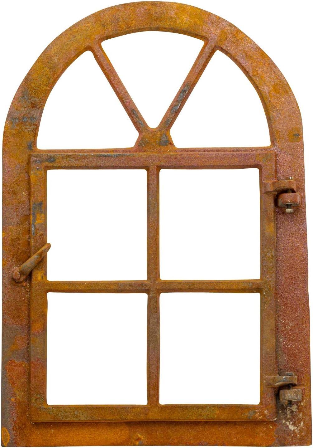 Aubaho Marco Ventana del Granero de Hierro Herrumbre de Estilo Antiguo 39,5x57,5cm