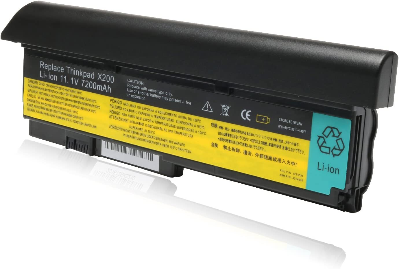 11.1V 7200mAh New Laptop Battery for Lenovo IBM ThinkPad X200 X200s X201 X201i X201s Series-P/N: 42T4534 42T4535 42T4543 42T4650 42T4834 42T4835
