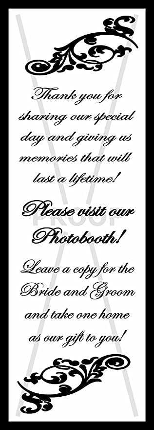 Amazon.com - Photo Booth Frame Inserts / Table Reminders Black 2x6 ...