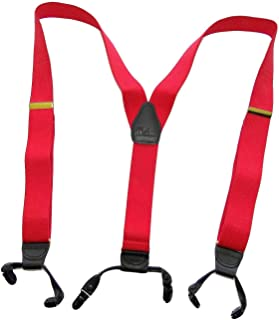product image for Holdup Brand Extra Long XL Fire Engine Red Dual Clip Double-ups Style Suspenders