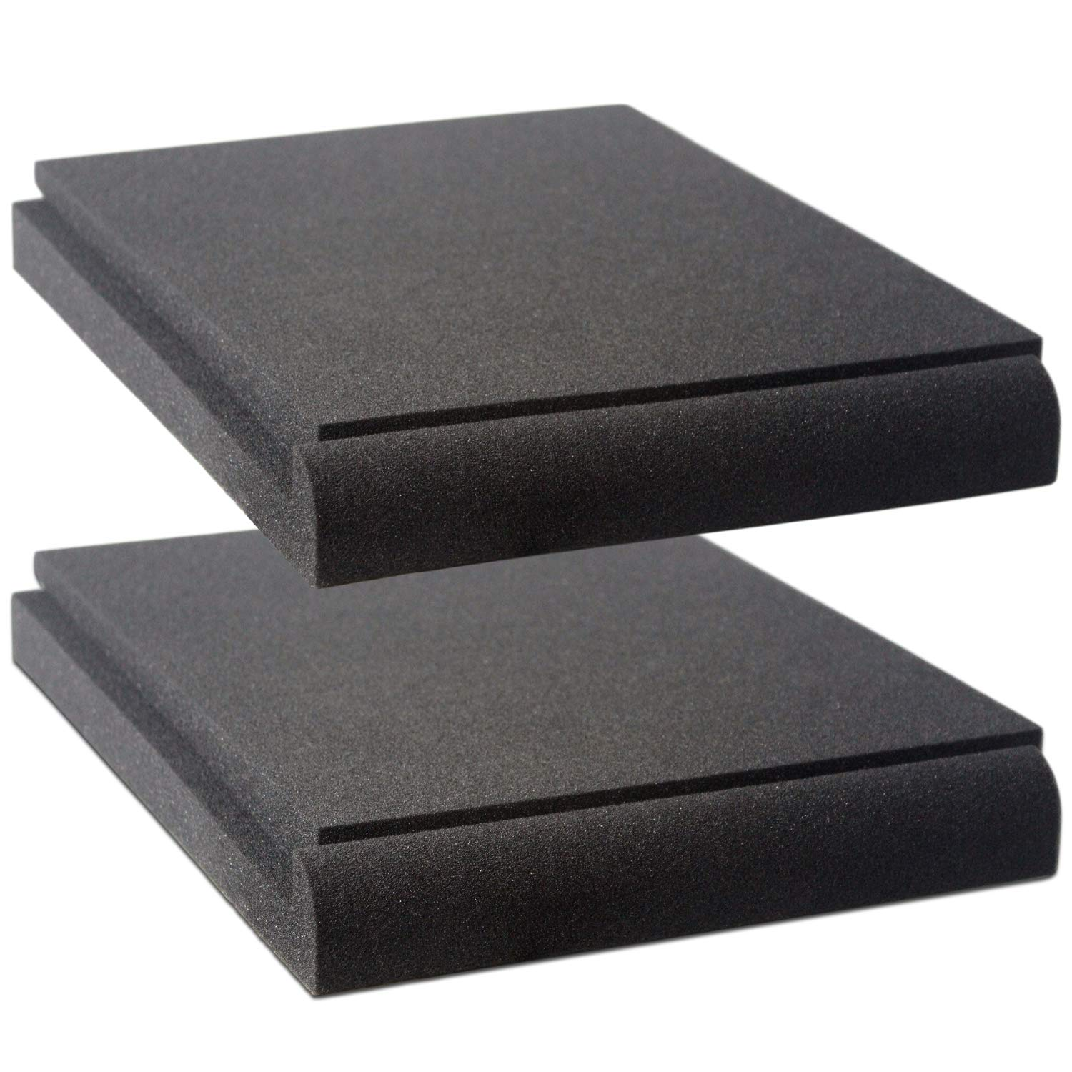 Studio Monitor Isolation Pads by VocalBeat - Suitable for 6.5'' - 8'' inch Speakers - High-Density Acoustic Foam for Significant Sound Improvement - Prevent Vibrations and Fits most Stands - 2 Pads