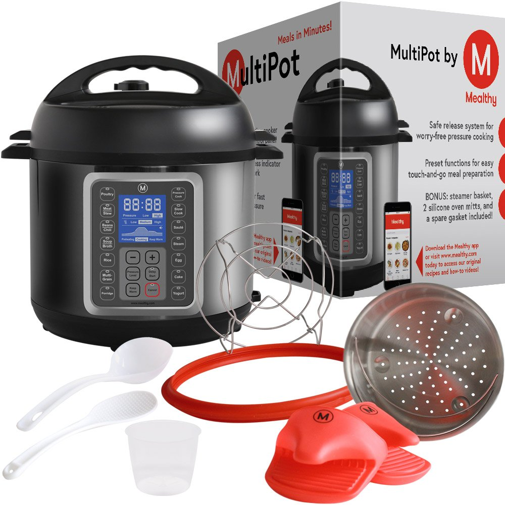 Mealthy 6 Qt MultiPot 9-in-1 Programmable Pressure Cooker