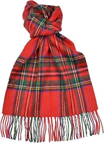 Scottish 100 /% Authentic Wool Tartan Stewart Royal Clan Scarf New !