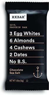product image for RXBAR, Chocolate Sea Salt, Protein Bar, 1.83 Ounce (Pack of 12), High Protein Snack, Gluten Free