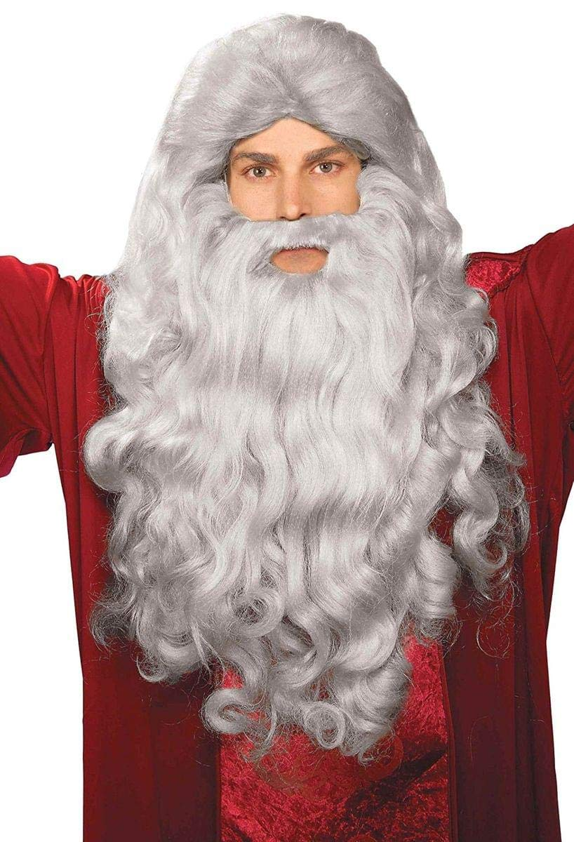 Forum Novelties Biblical Wig & Beard Costume Set Gray 79087