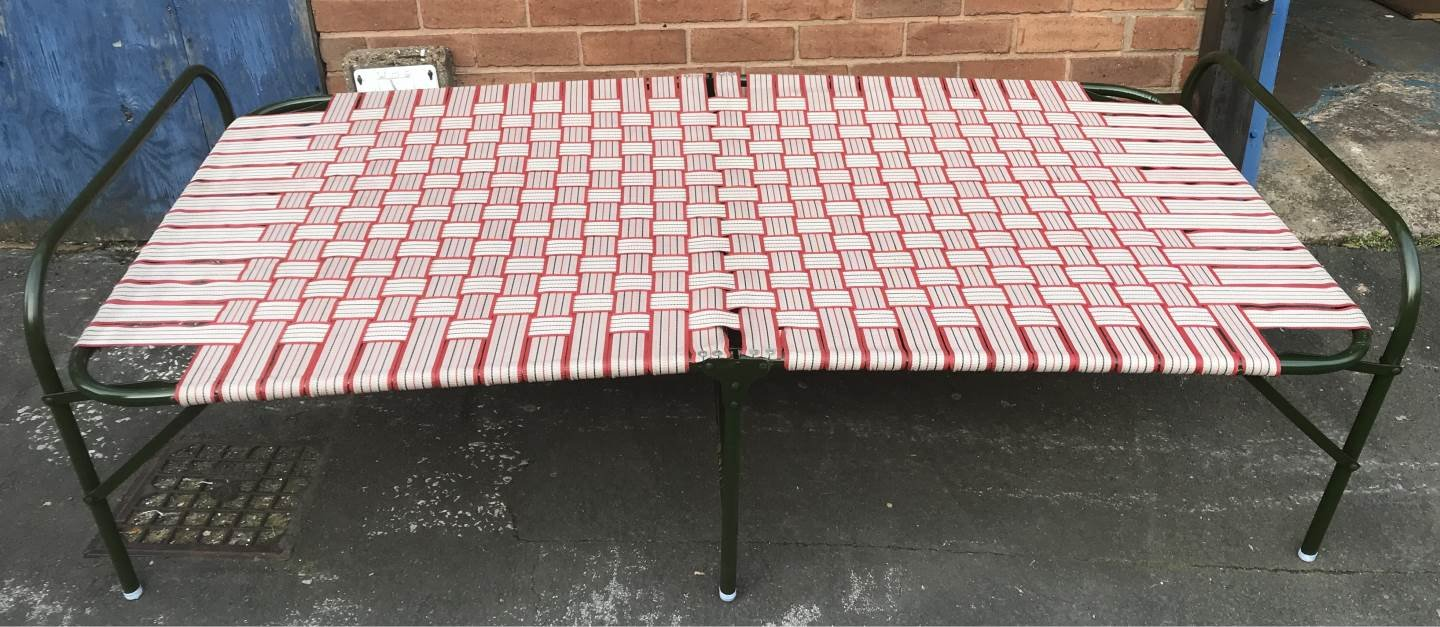 FOLDING PORTABLE SINGLE BED//GARDEN CAMPING INDOOR FURNITURE//INDIAN MANJA Red A2 Double Pipe