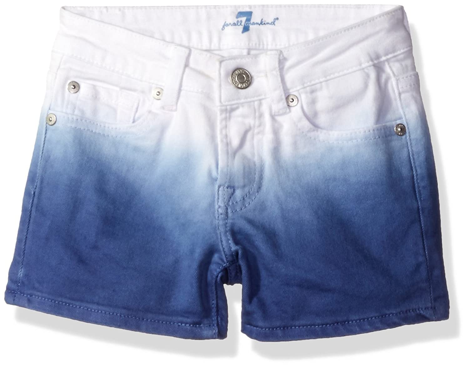 7 For All Mankind Big Girls' Dip Dye Denim Short