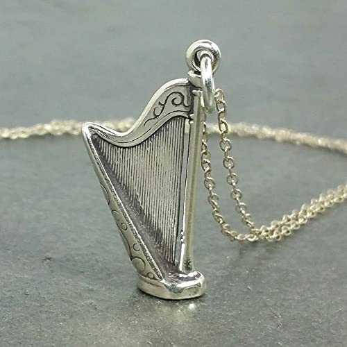 Amazon harp necklace 925 sterling silver handmade harp necklace 925 sterling silver aloadofball Gallery