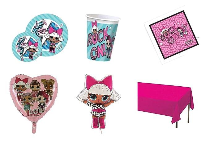 Party Store web by casa dolce casa Bing Coordinato ADDOBBI Festa 8 Piatti 23 CM,100 Bicchieri,20 TOVAGLIOLI,1 SUPERSHAPE Kit n/°10 CDC-