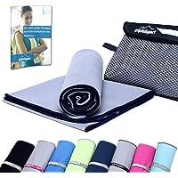 Mikrofaser Handtuch Set - Microfaser Handtücher für Sauna, Fitness, Sport | Strandtuch, Sporthandtuch