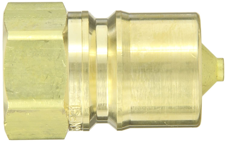 Eaton Hansen B6KP31VB Brass ISO-B Interchange Hydraulic Fitting Plug with Bleeder Valve 3//4 Body 3//4-14 NPTF Female 3//4 Body 3//4-14 NPTF Female