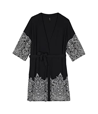 cf2f4732155f Intimissimi Womens Micromodal Kimono with Pretty Flowers Print: Amazon.co.uk:  Clothing