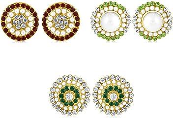 Sukkhi Copper Stud Earrings for Women (Golden) (CB70126GLDPD550)