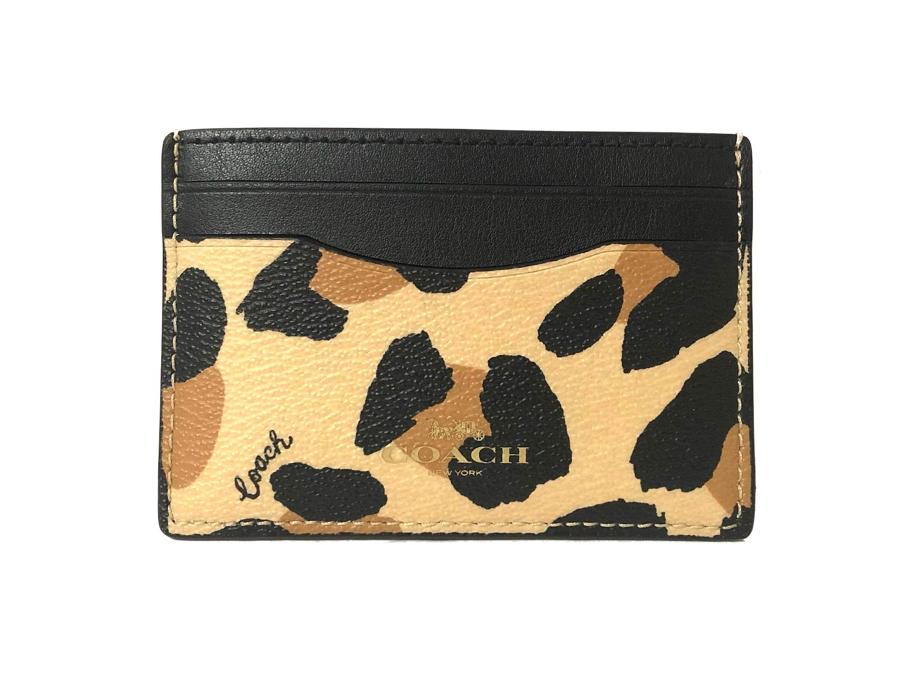 Coach Signature PVC Card Case (IM/Natural) by Coach