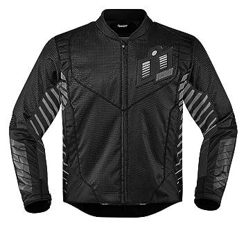 Icon Chaqueta de moto Wireform, color negro: Amazon.es ...