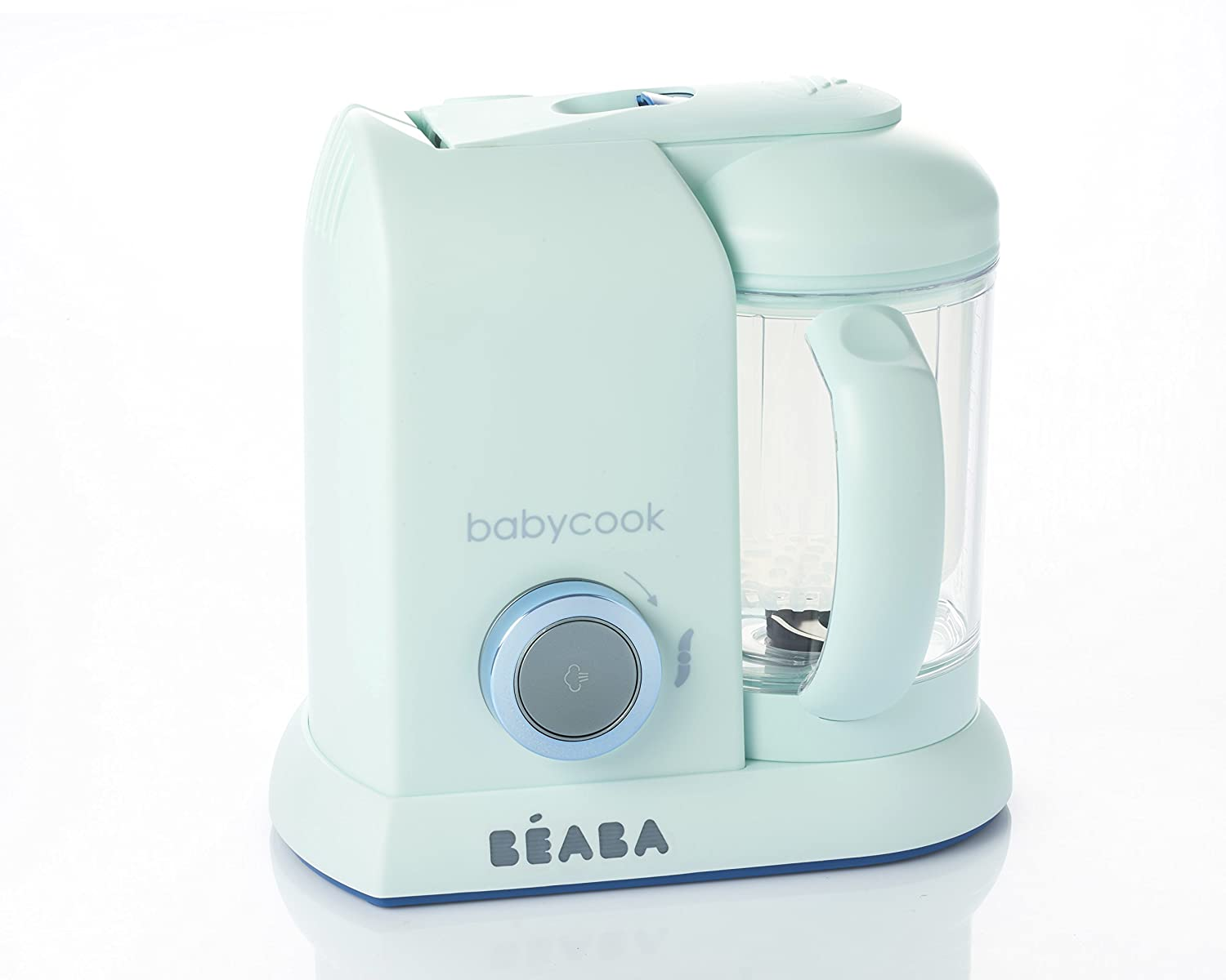 BEABA Babycook 4 in 1 Steam Cooker and Blender, 4.5 Cups, Dishwasher Safe, Blueberry