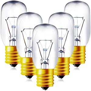 6 Pieces 6912W1Z004B Microwave Bulb 125-Volt/30-Watt E17 Base Bulb Replacement Microwave Oven Light Bulb Universal Type Incandescent Lamp Compatible with LG 6912W1Z004B Microwave Oven