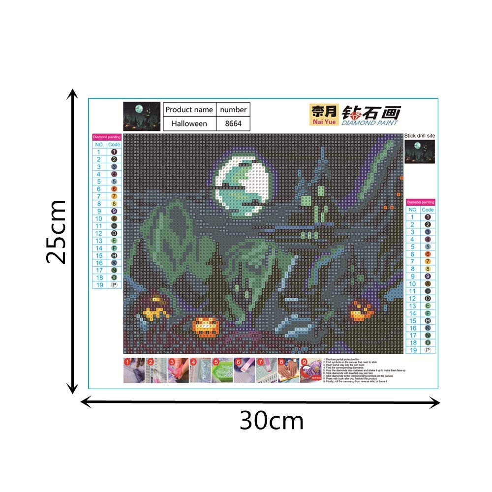 ShuoBeiter 5D Diamond Painting by Number Kits New DIY Diamond Painting Kit for Adults Cross Stitch Full Toolkit Embroidery Arts Craft Picture Supplies Home Wall Decor Christmas 4