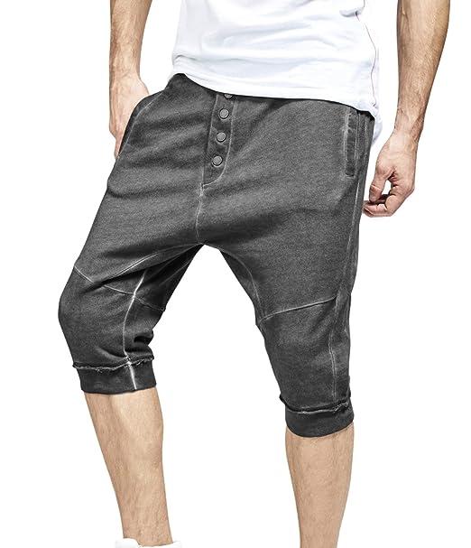 trueprodigy Casual Hombre marca Jogger Pontalon Corto militar ropa retro vintage rock vestir moda deportivo chandal slim fit designer cool urban fashion ...