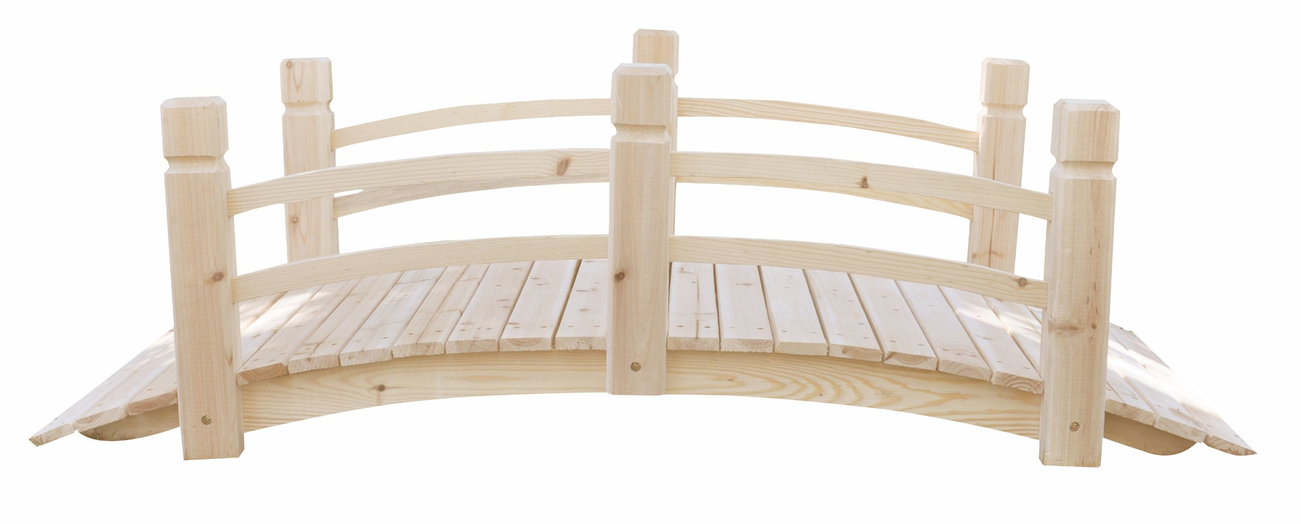 Shine Company 5 Ft. Cedar Garden Bridge, Natural